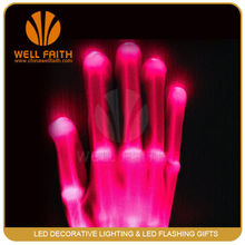 Made in China LED Flashing Gloves, magic gloves with whole hand light up