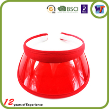 Different color choice custom plastic sun visor cap wholesale