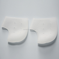 Two size available and breathable hole gel heel cushion socks protective crack
