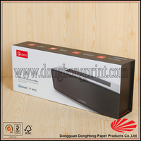 Custom printed box for electronics packaging