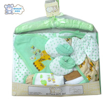 China wholesale baby clothing gift 10in1 set