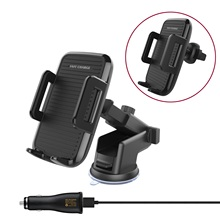 Mobile Phone Mounts Holder Auto Vehicle Qi Wireless Charging Transmitter Charger for Standard Cell Phone Receiver