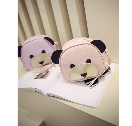 Cute Bear Face Women Bag Baby Girl Mini messenger Shoulder Bag For Women Cross Body Bags Lady PU Leather Handbags Animal