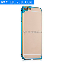 Cell Phone Metal Case Aluminum bumper+soft TPU Back Cover for Iphone 6 With Color camera Protector