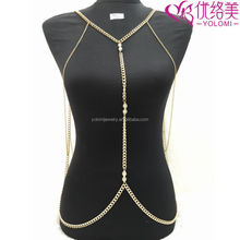 Women Body Jewelry Front and Back Chain Body Jewelry Chain YMBD1-276