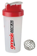 protein plastic shake bottle with stainless steel ball