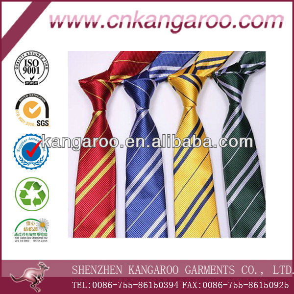Men's newly designed polyester silk stripped neck tie