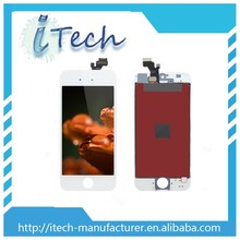 Low price china mobile repair white lcd screen for iphone 5 front glass