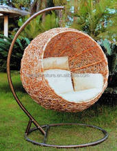 cheap price indoor outdoor patio rattan wicker hanging egg swing chair YPS082-8