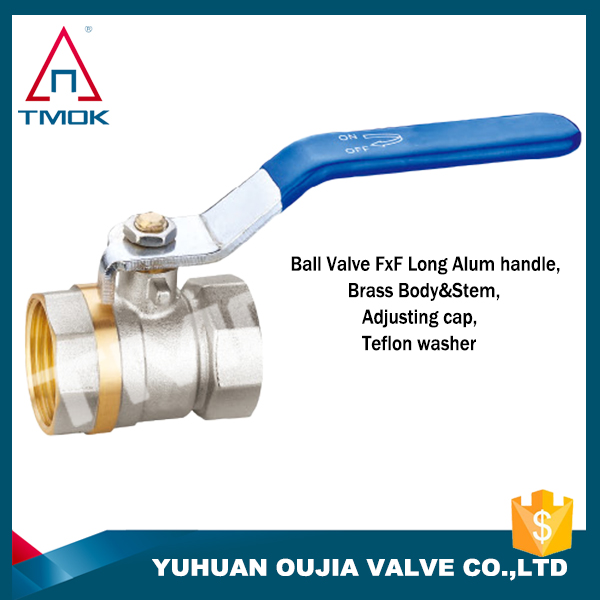 Double wire inside the handle connection nut the brass ball valve of pipe and language