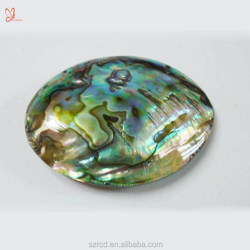 Hot vendedor pedra natural abalone shell gemstone oval contas