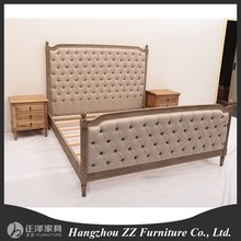 antique reproduction reclaim wood home furniture french upholstered bed