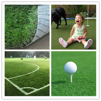 Fincial Environment Friendly Football Artificial Grass Turf with PP + net cloth backing