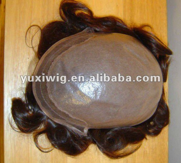 hot sales human hair men's toupee