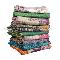 Indian Embroidered Kantha Quilts