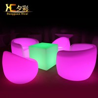 LED Living Room Sofa Plastic Big Bar Couch Single Person Arm Chair
