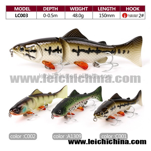 in stock saltwater hard lures multi jointed fishing lure