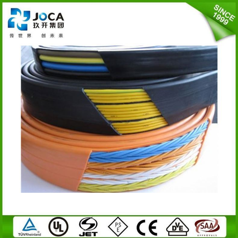 Steel Wire Support Pvc Insulated Flexible Flat Elevator Cables