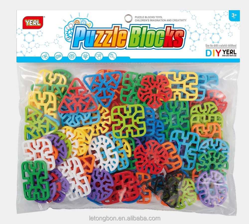 DIY puzzle assembly blocks Varity Geometry Snowflake Puzzle Blocks