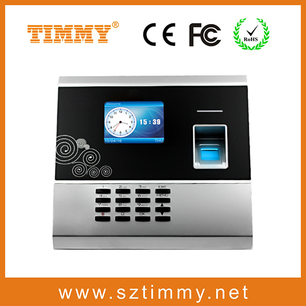 biometric fingerprint time biometric alarm clock time attendance biometric with high security protection system