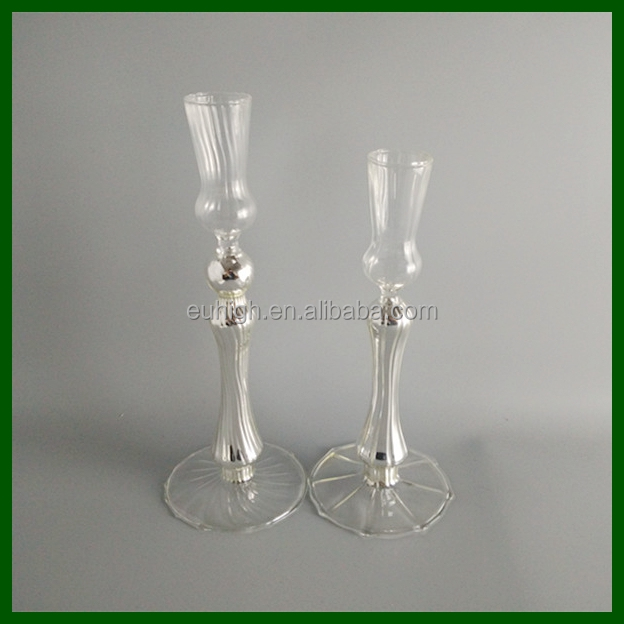 Glassware Manufacturer high clear glass candle jars/glass candle jar set with dome cap/glass candle holder