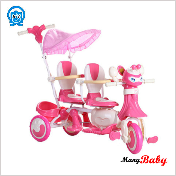 2015 plastic double seats baby tricycle, good sale children kids tricycle