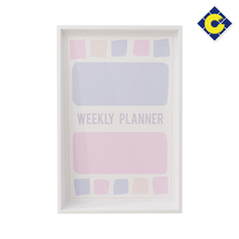 Pink and purple weekly planner soft decorative whiteboard