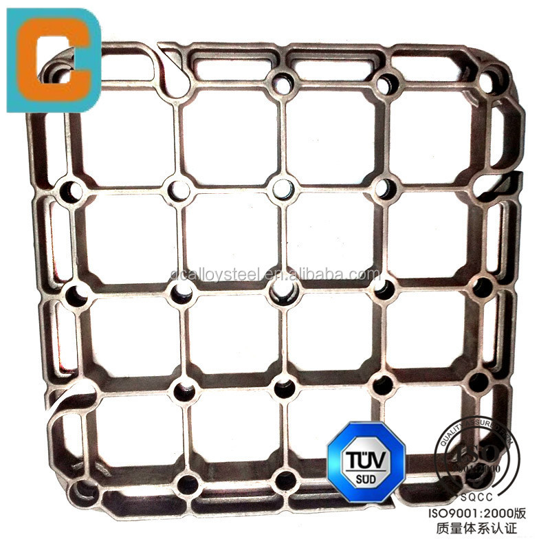 lost wax casting Base tray of steel material for heat treatment fixtures