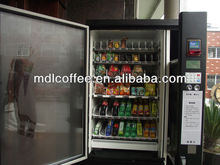 coin and bill acceptor with coin change function snack&cold soft bottled drink vending machine