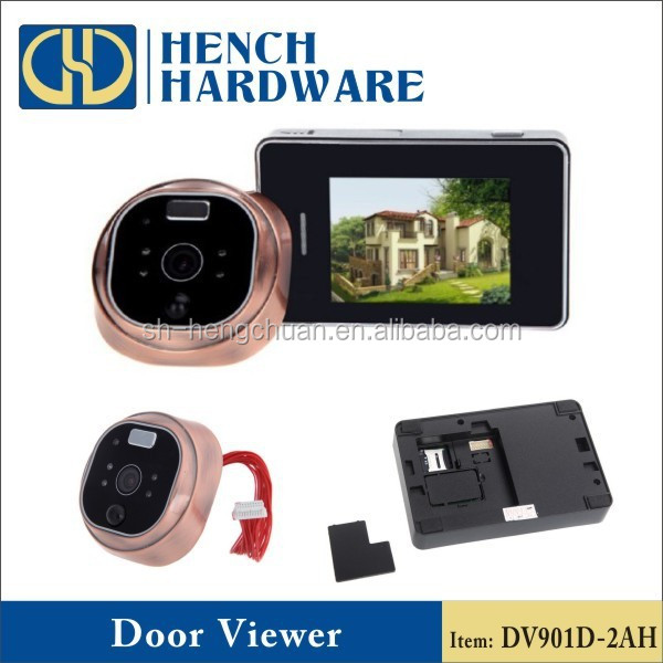 Night vision peephole camera with motion sensor