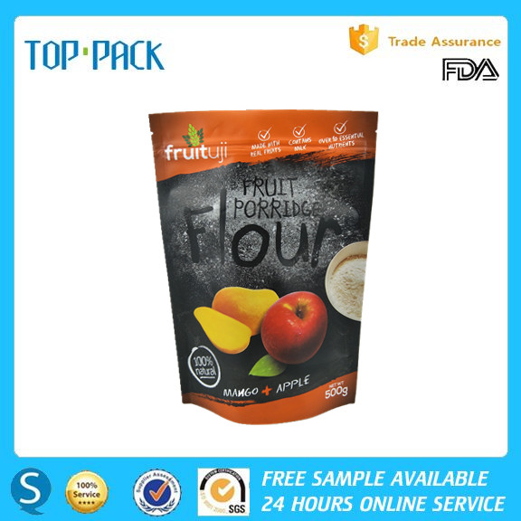 High quality laminated aluminum foil stand up food packaging bag with zip lock