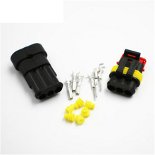 Kit 2 Pin 2P 1P 3P 4P 5P 6P Way Sealing Waterproof Electrical Wire Cable Connector Plug Adapter for Car Auto Eletronics