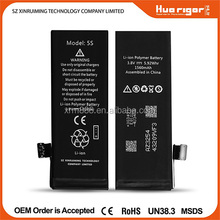 Manufacturer wholesale high quality replacement for iphone 5s battery