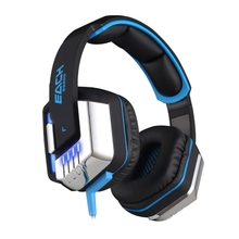 KOTION EACH G8200 Game Headphone 7.1 Surround USB Vibration Gaming Headset Headband Earphone with Microphone LED Light for PC Ga