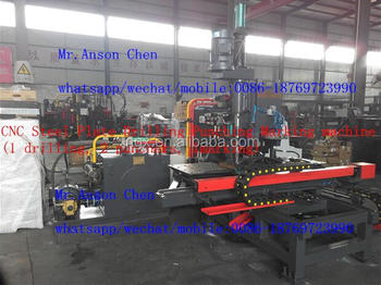 CNC Steel Plate Punching Drilling Marking Machine