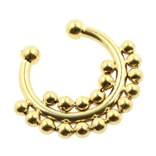 Fashion stainless surgical steel real septum rings 16g septum piercing pierced nose ring