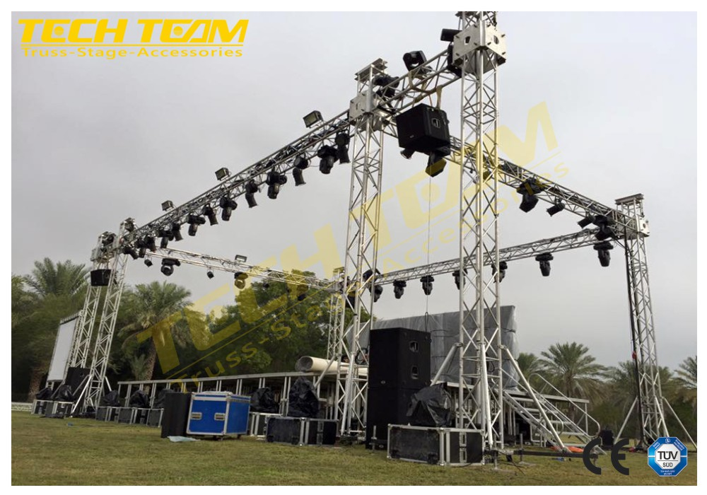 Aluminum Outdoor arch light truss stage design