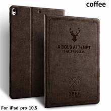 Brand new Good quality child protect pu leather Cover & Case deer logo customized version tablet cover for iPad pro 10.5 2017