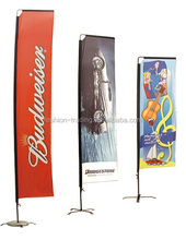 High quality polyester fabric 3m size wind blade flags with aluminium pole