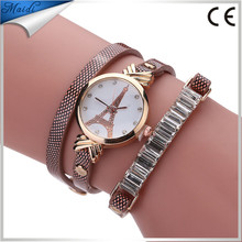 Women grils Wrist Watches Classics Ladies Quartz Christmas Gift Rose Tower Watches WW059