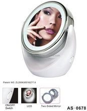 1X/5X Double Side Round LED Lighted Makeup Mirror For OEM