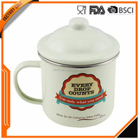 2016 Best selling products factory sale custom logo printed enamel mug