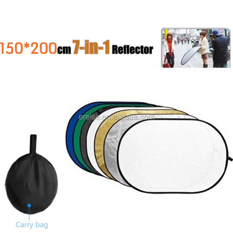 E-Resie7 in 1 Portable Photo Studio Photography Reflector Multi Photo Collapsible Disc Reflector for photography