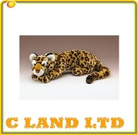 Lifelike plush stuffed animal toys leopard plush toy Anhui Factory