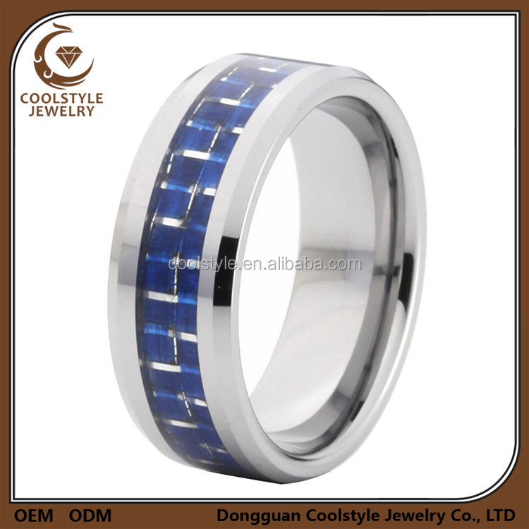 Bulk jewellery men's thick titanium 100% carbon fiber engagement ring