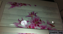 wall tiles matching flower ceramic decor and border