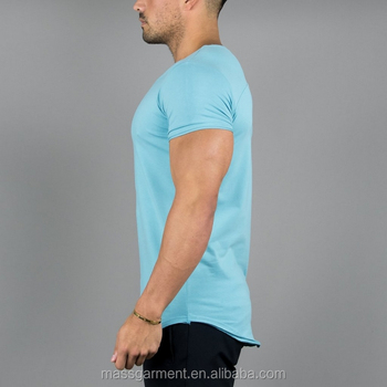 Light blue muscle gym fit men t shirt lifestyle t shirt