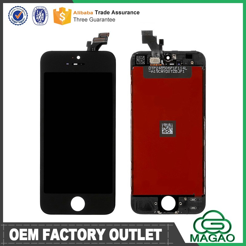 LCD + Touch Screen/Digiter + Frame for iphone 5 full assembly, for iphone 5 lcd digitizer assembly