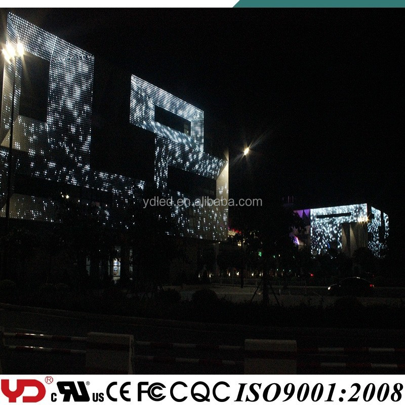 YD ip68 145,000 dot lights decorative gorvenment building led video wall