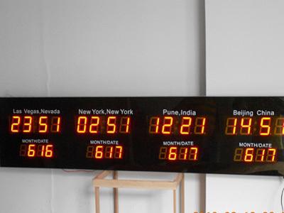 Led Digital Multi Time Zones International Time Wall Clocks Buy International Time Wall Clocks Led Time Zone Wall Clock Multiple Time Zone Wall